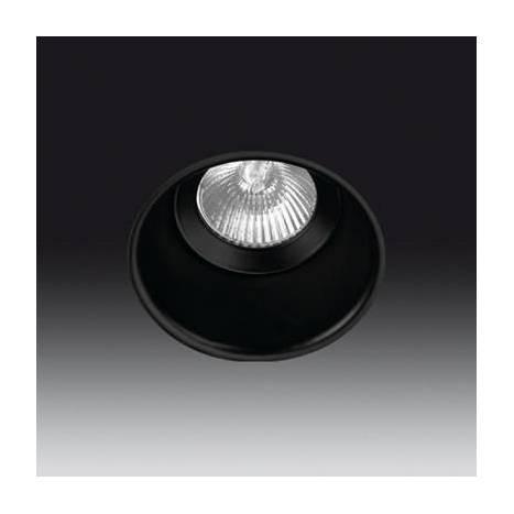 Foco empotrable Vulcano 1 fijo negro - Onok