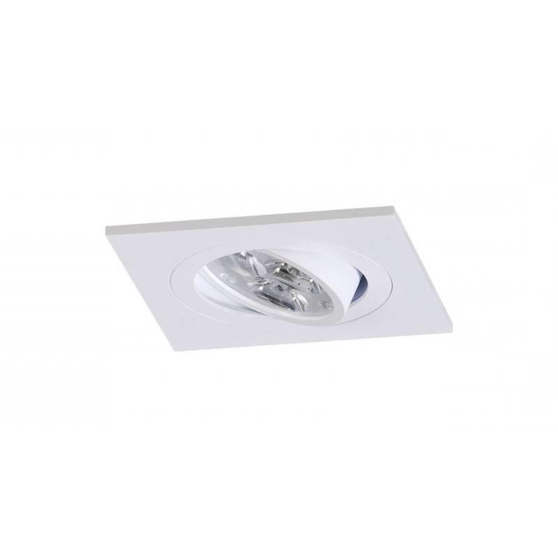Onok 192 gu10 square recessed light white aluminium onok 192 square recessed light white aluminium aloadofball Images