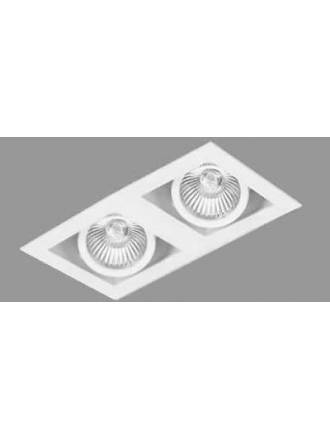 Foco empotrable Cardan Mini 2 luces blanco - Onok