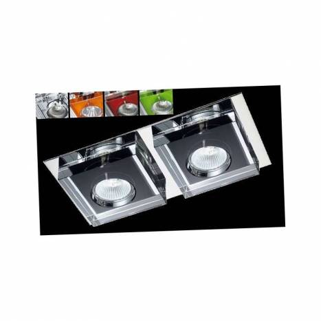 Foco empotrable Lunne 2 luces cristal colores - Cristalrecord