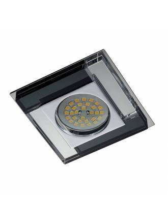 CRISTALRECORD Luxor square recessed light black