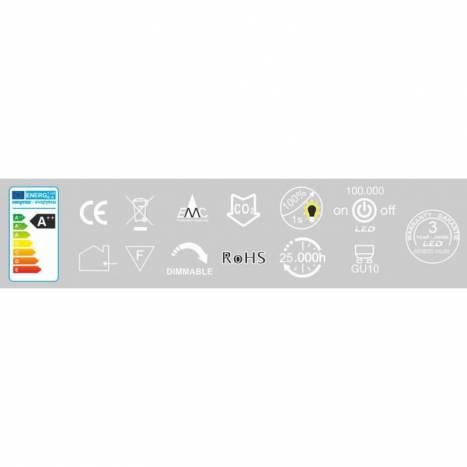 Bombilla LED 6w GU10 120º regulable - Beneito Faure