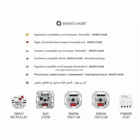 BENEITO FAURE Dimmable GU10 LED Bulb 6w 220v 120º