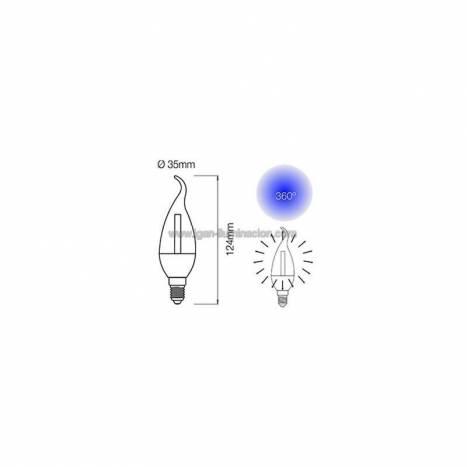 BENEITO FAURE Flama Deco E14 LED Bulb 4w 220v