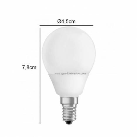Bombilla LED 6w E14 Esférica - Maslighting