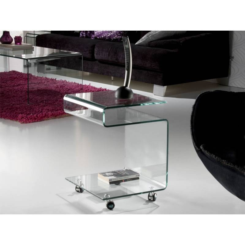 SCHULLER side table Glass clear