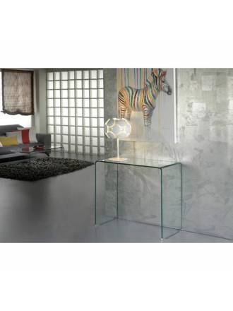 SCHULLER console table Glass transparent