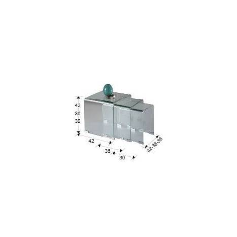Mesas nido Glass cristal - Schuller