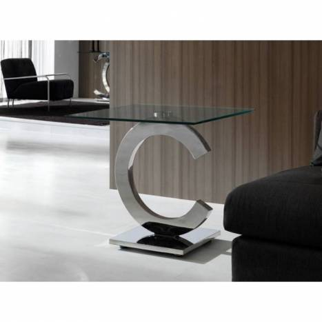 SCHULLER corner table Calima glass