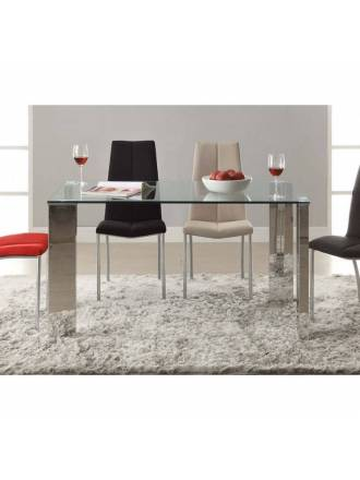 Schuller dining table Malibu 140x80 glass