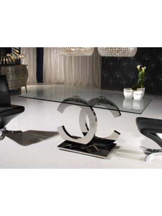 Schuller dining table Calima glass