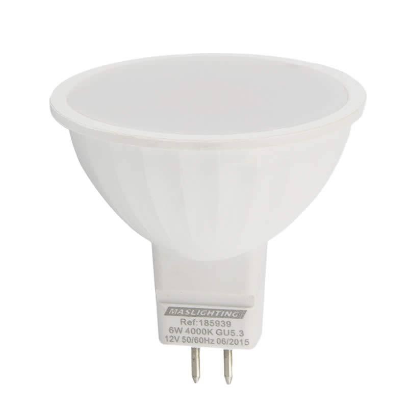 Bombilla LED 6w MR16 12v 120º - Maslighting