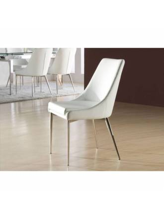 SCHULLER chair Dublin white color