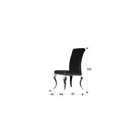 Schuller chair Barroque black color