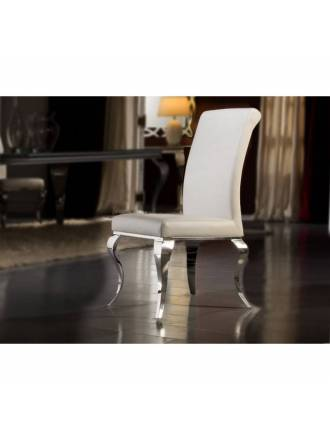 Schuller chair Barroque white color