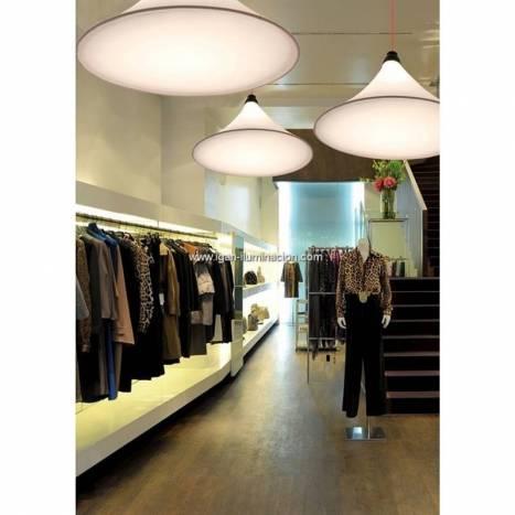 EL TORRENT Flux pendant lamp LED 17w white fabric