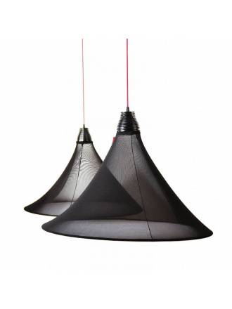 EL TORRENT Flux pendant lamp LED 17w black fabric