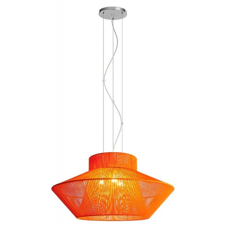 Lámpara colgante Koord 3 luces naranja - El Torrent