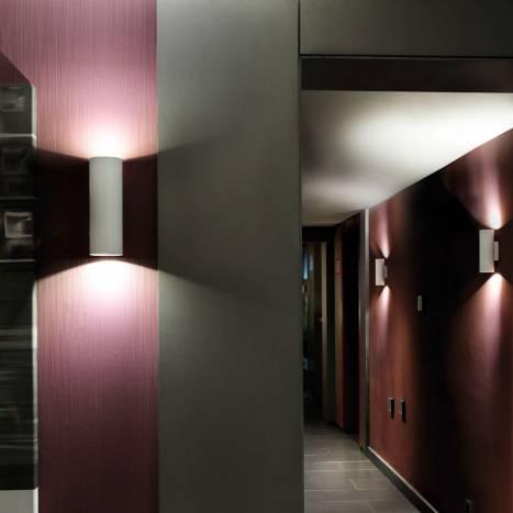 LEDS-C4 Pipe wall lamp LED 2x6w white