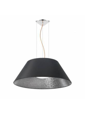EL TORRENT Sonora pendant lamp 1L black fabric
