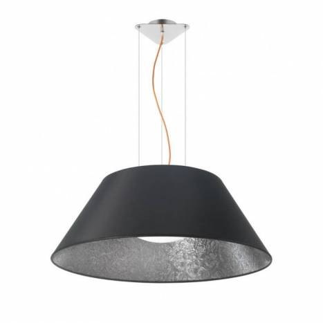 EL TORRENT Sonora pendant lamp 1L black fabric