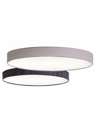 Plafón de techo Slim 1 luz vinilo negro - El Torrent