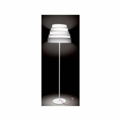 Lámpara de pie Blur tela blanco - Massmi