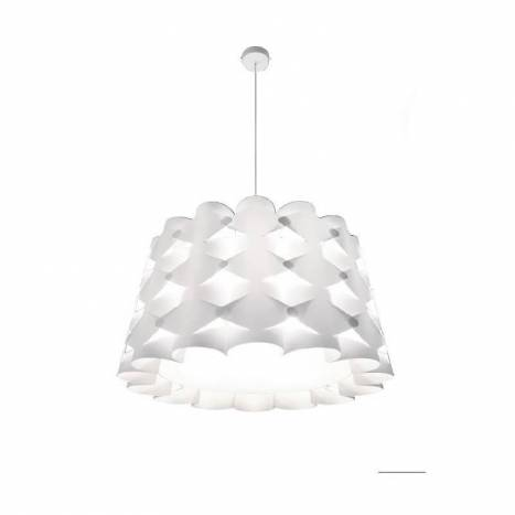 MASSMI Origami pendant lamp white fabric