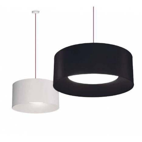 MASSMI In pendant lamp fabric black and white