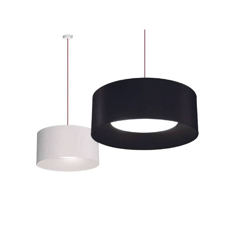 MASSMI In pendant lamp fabric black and white