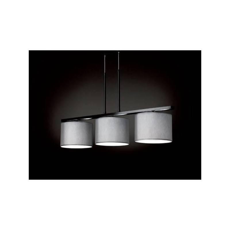 Lámpara de techo Satin Contract 3 luces tela gris - Massmi