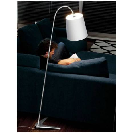 MASSMI Palm floor lamp white fabric