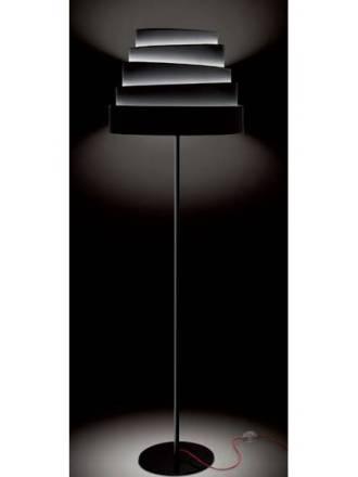MASSMI Blur floor lamp black fabric
