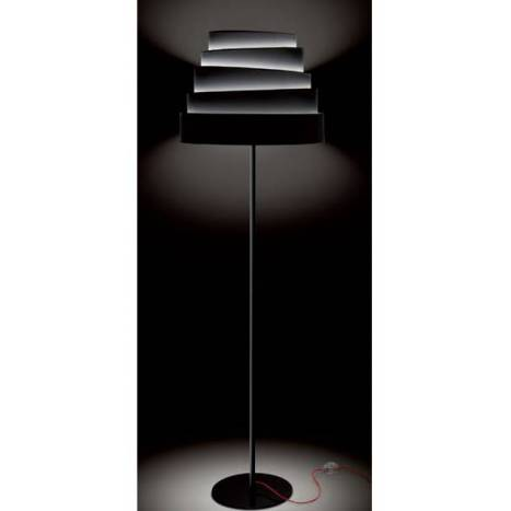 MASSMI Blur floor lamp black fabric