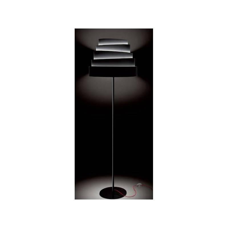 Lámpara de pie Blur tela negro - Massmi