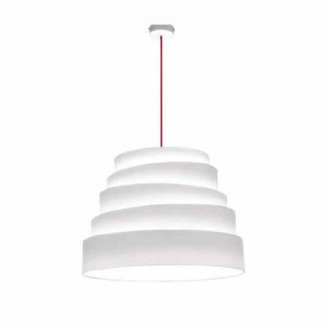 MASSMI Blur pendant lamp white fabric