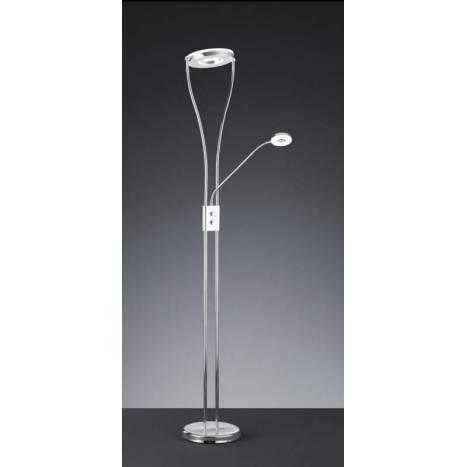 Trio Rennes floor lamp 2L LED chrome
