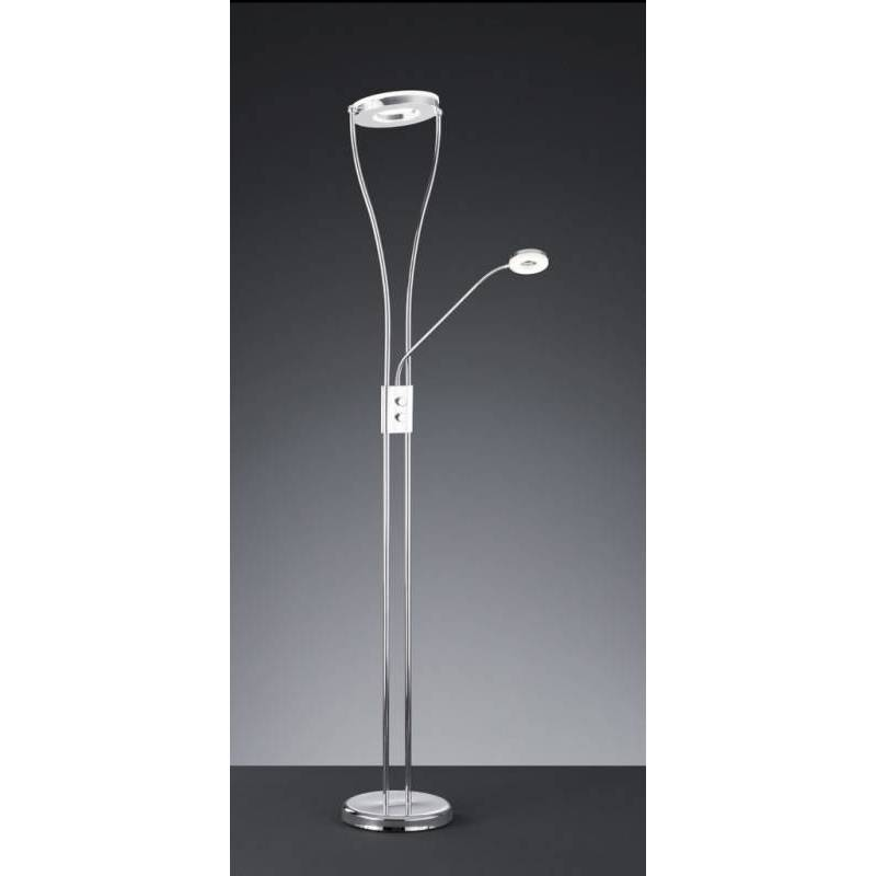 L mpara de pie rennes led 2 luces cromo regulable trio - Lamparas de pie de diseno ...
