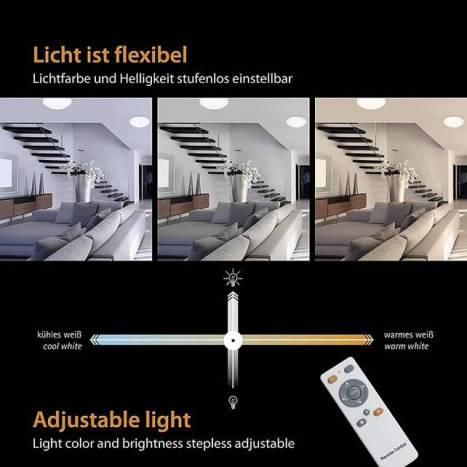 Plafon de techo Kyoto LED 50w regulable de Trio