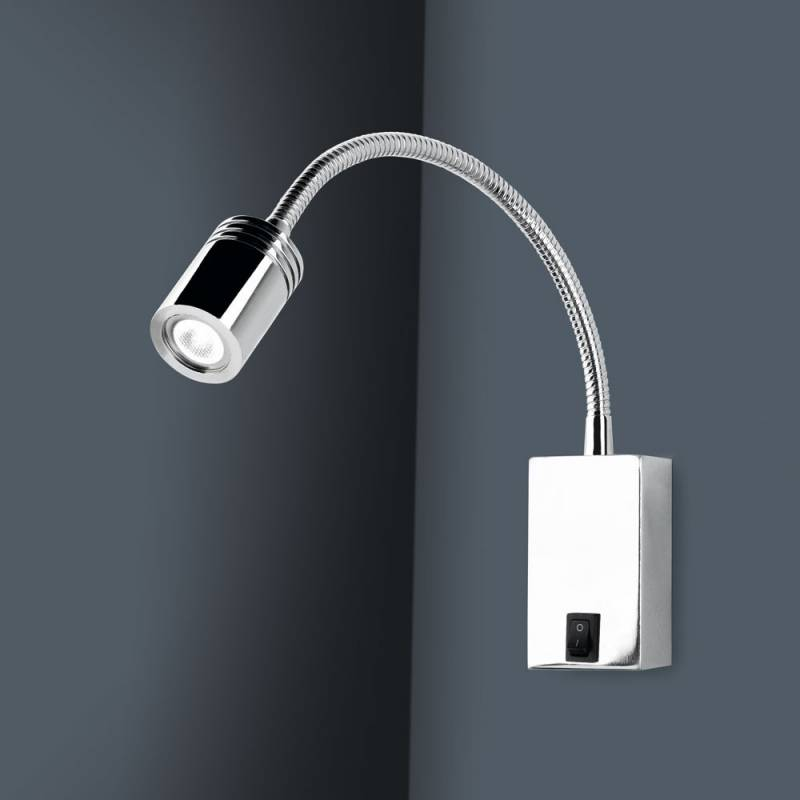Wall Lamps Chrome : LEDS-C4 Book wall lamp LED 3w chrome