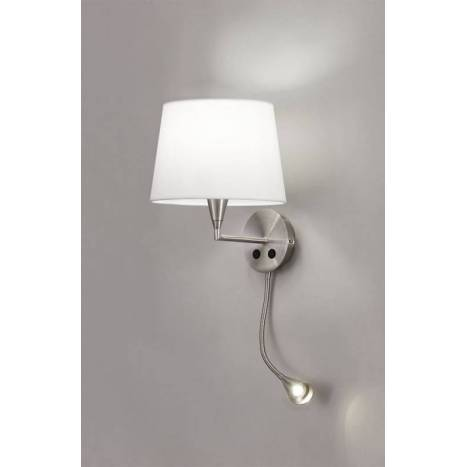 ACB 3272 wall lamp 2L nickel and fabric