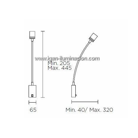 LEDS-C4 Book wall lamp LED 3w chrome