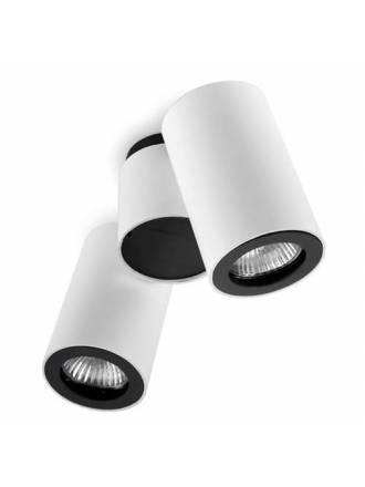 Foco de superficie Pipe 2 luces blanco - Leds C4