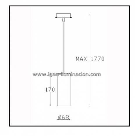 Lámpara colgante Pipe 1 luz blanco - Leds C4
