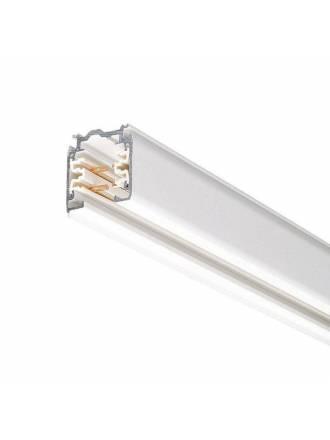 Carril trifasico con conector + tapa final blanco