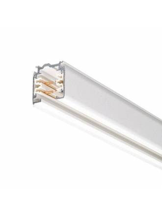Track rail with connector + end cap white