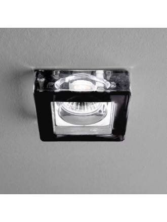 OLE by FM 175 square recessed light black glass