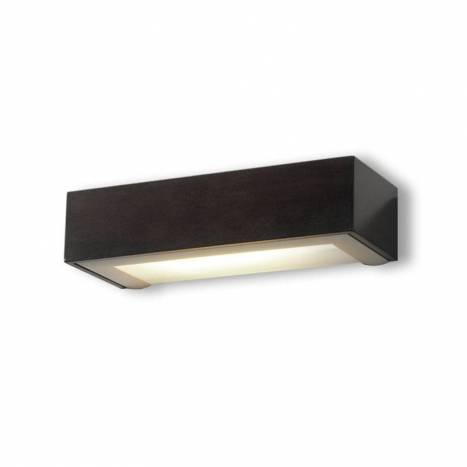 OLE by FM Box wall lamp E27 wenge wood