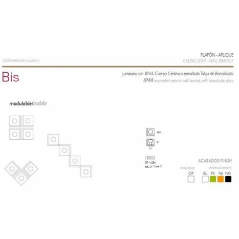 Aplique de pared Bis IP44 colores - Ole