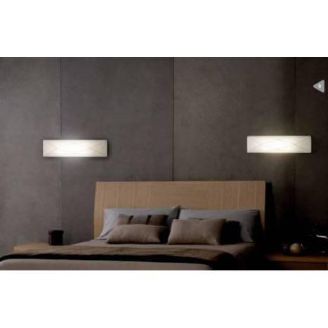 OLE by FM Polaris wall lamp 2L white fabric